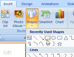 PowerPoint 2007 AutoShapes