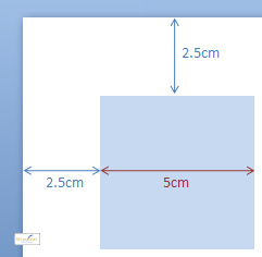 Position of an object on a slide