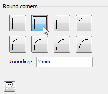 Rounding the corners of a line