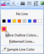 Choosing a different outline colour