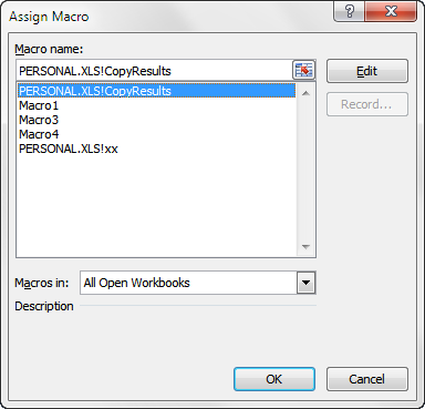 Assigning a macro to a form button