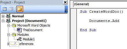 Adding documents in Word