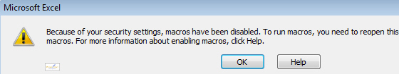 An error message