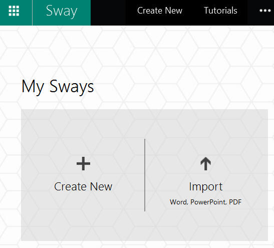 Sway opening screen