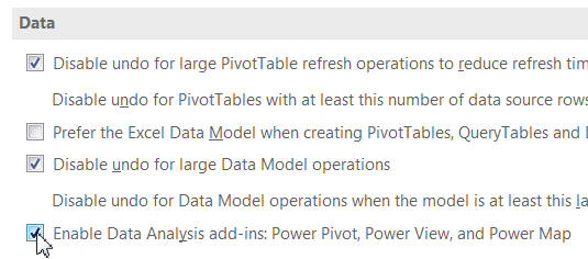 Enabling Power BI