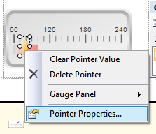 Menu to change pointer properties