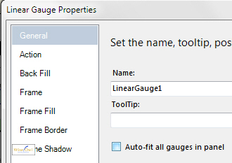 Dialog box to auto fit gauges inside panels