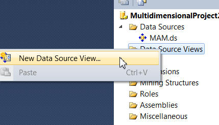 Creating a data source view