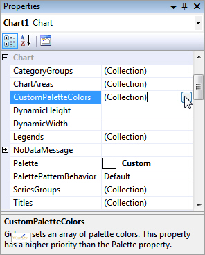 CustomColorPalettes property