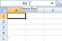 The Name Box in Excel 2007
