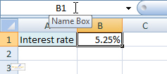 The Name Box in Excel