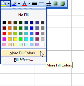 Choosing More Fill Colors