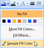 The colour picker tool in Microsoft Publisher