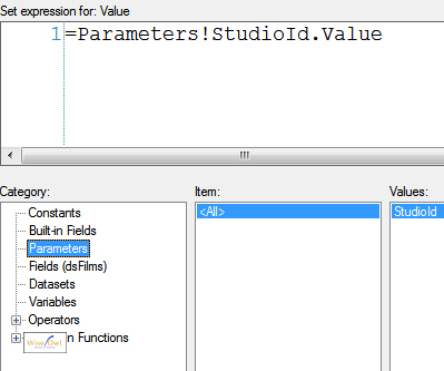 Creating parameter expression