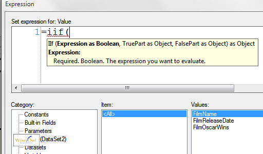 BIDS expression builder