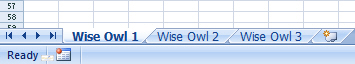 Worksheets renamed Wise Owl 1 to 3