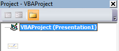 PowerPoint VBA Project Explorer