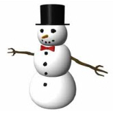 Snowman with hat and arms