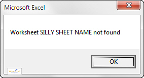 Error message if no sheet