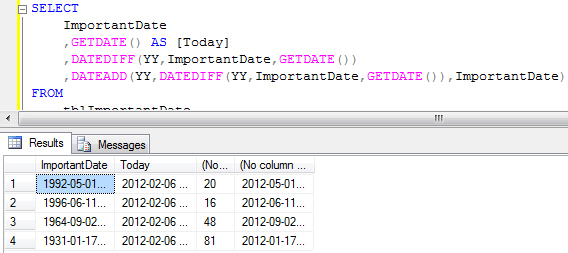 Using DATEADD