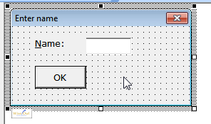 Selecting a form with mouse