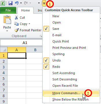 Customising toolbar