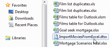 SSIS package file
