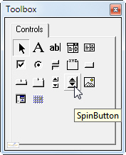 The SpinButton tool
