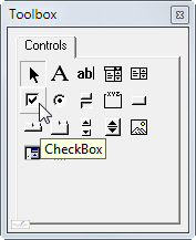 The checkbox tool