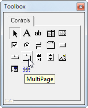 MultiPage control selected