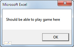Play method message box