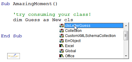 Class appearing in autocompletion