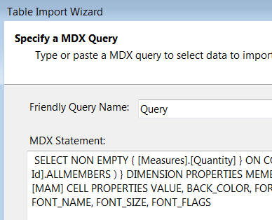 MDX query