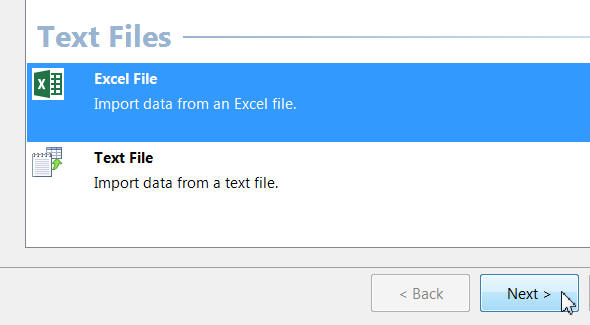 Excel data source