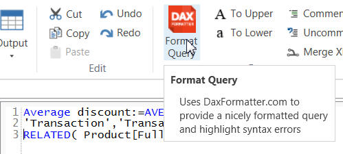 Paste and format query