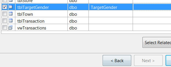 Adding target gender table