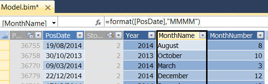 Examples of date aggregator columns