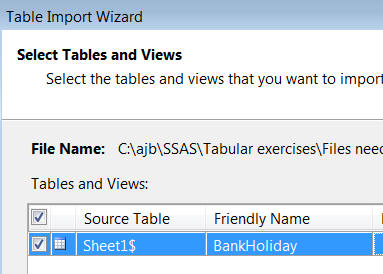 Importing bank holidays