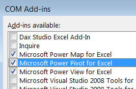 PowerPivot add-in