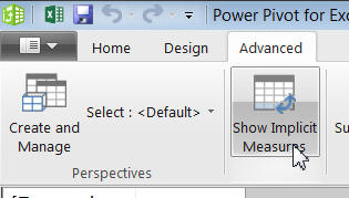 Show implicit measures tool