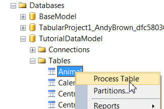 Process table in SSMS