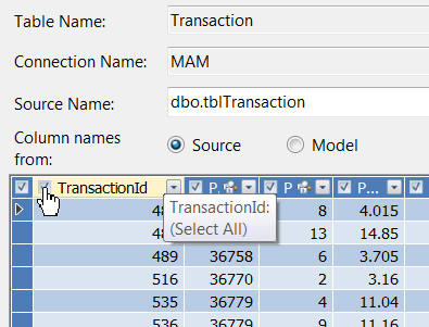 Untick the transaction id