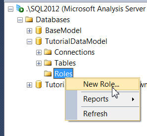 Creating a new role in SSMS