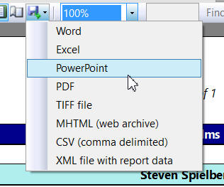 PowerPoint option