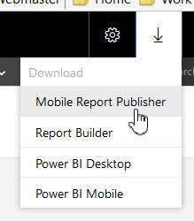 Downloading Mobile Report Publisher
