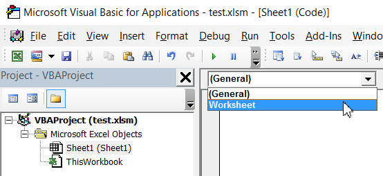 Worksheet object
