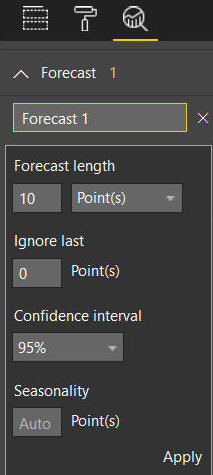Forecast options