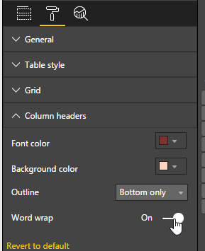 Word wrap in column headings for Table th word wrap