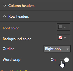 Word wrap option