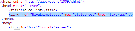 Style sheet link in HTML